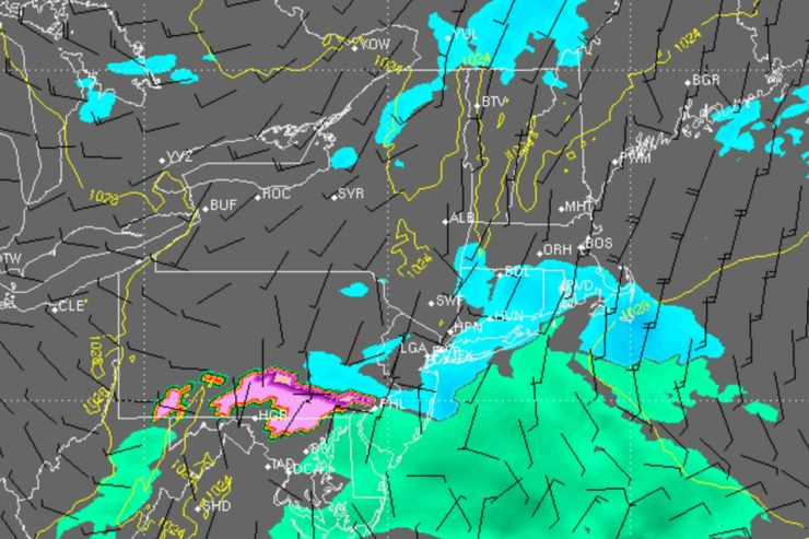 Brief Period of Light Snow Possible Tonight