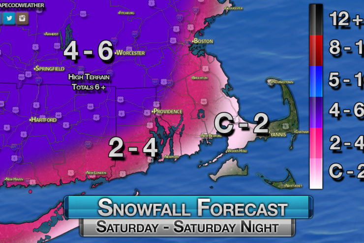 Some Snow and Rain Expected Saturday.